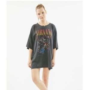 Urban Outfitters Nirvana Unplugged T-shirt Dress